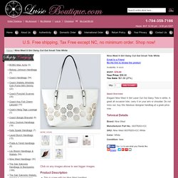Nine West It Girl Daisy Cut Out Small Tote White
