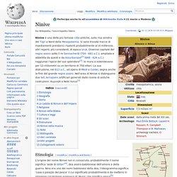 Ninive scoperta dall'archeologo inglese Henry Layard tra il 1849 e 1850