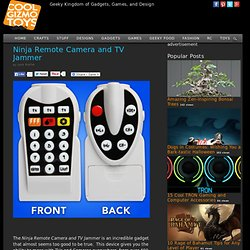 Ninja Remote Camera and TV Jammer