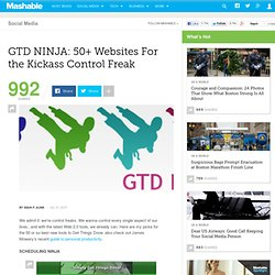 GTD NINJA: 50+ Websites For the Kickass Control Freak