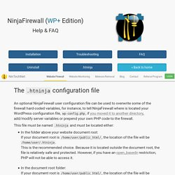 NinjaFirewall WP+ : Help and FAQ