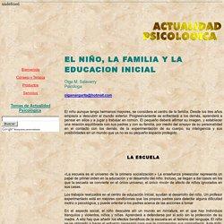 EL NIÑO, LA FAMILIA Y LA EDUCACION INICIAL