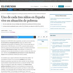 Uno de cada tres niños en España vive en situación de pobreza