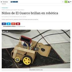 Niños de El Guarco brillan en robótica