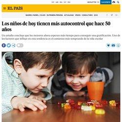 Los niños de hoy tienen más autocontrol que hace 50 años