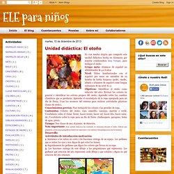 ELE para niños: Unidad didáctica: El otoño