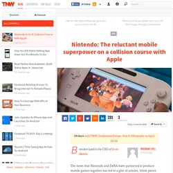Nintendo Is On A Collision Course With Apple