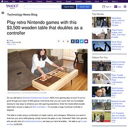 Play retro Nintendo games with this $3,500 wooden table that doubles as a controller | Technology News Blog