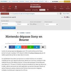 Nintendo dépasse Sony en Bourse