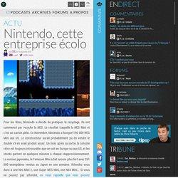 Nintendo, cette entreprise écolo - Nintendo - News