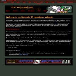Simon van de Berg - Nintendo DS Homebrew Webpage