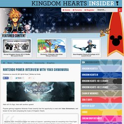 Nintendo Power Interview With Yoko Shimomura - News - Kingdom Hearts Insider
