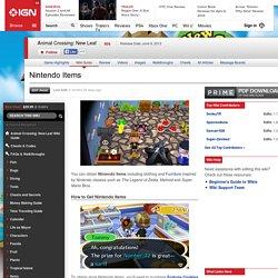 Nintendo Items - Animal Crossing Wiki Guide