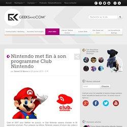 Nintendo met fin à son programme Club Nintendo