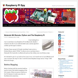 Nintendo Wii Remote, Python and The Raspberry Pi