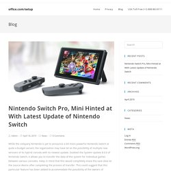 Nintendo Switch Pro, Mini Hinted at With Latest Update of Nintendo Switch