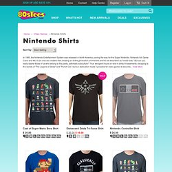 Nintendo t-shirts, Nintendo hats, and Nintendo wristbands