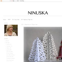 DIY - Paperikuusi / Paper tree