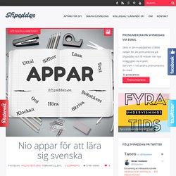Nio appar för att lära sig svenska