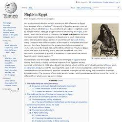 Niqāb in Egypt