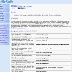 NirCmd - Windows command line tool