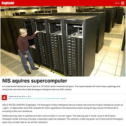 NIS aquires supercomputer