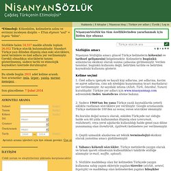 Nişanyan - Türkçe Etimolojik Sözlük