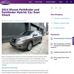 2014 Nissan Pathfinder and Pathfinder Hybrid: Car Seat Check