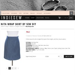 Nita Wrap Skirt Sewing Pattern by Sew DIY