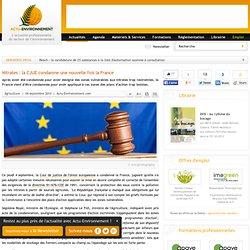 Nitrates : la CJUE condamne une nouvelle fois la France