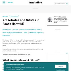Are Nitrates and Nitrites in Foods Harmful?