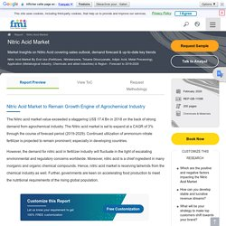 Nitric Acid Market Analysis and Review 2019 - 2029