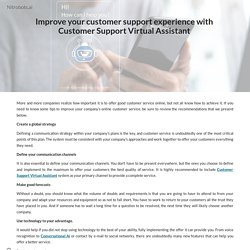 Improve your customer support experience with Customer Support Virtual Assistant