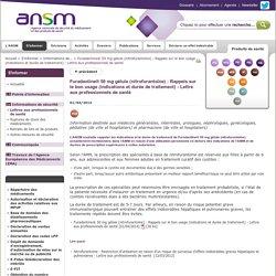 Furadantine® 50 mg gélule (nitrofurantoïne) : Rappels sur le bon usage (indications et durée de traitement) - Lettre aux professionnels de santé