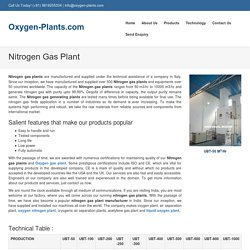 Nitrogen Gas Plant manufacturer and supplier
