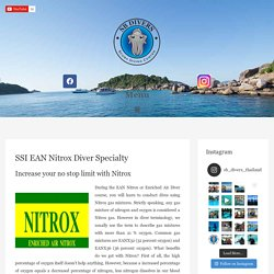 SSI EAN Nitrox Diver Specialty Course with SB Divers - Dive Center in Thailand