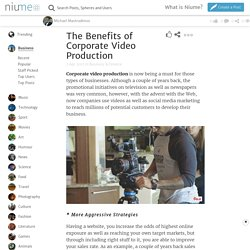 The Benefits of Corporate Video Production