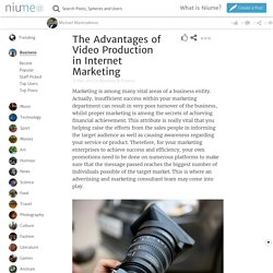 The Advantages of Video Production in Internet Marketing