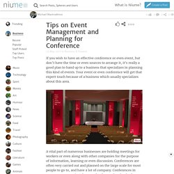 Tips on Event Management and Planning for Conference