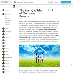 The Best Qualities of Mortgage Brokers @niume_official