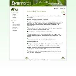 Niveau A1 - Dynamo{t}s