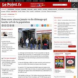 Zone euro: niveau jamais vu du chômage qui touche 11% de la population