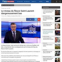 Le niveau du fleuve Saint-Laurent dangereusement bas