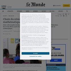 Chute du niveau des élèves en mathématiques, selon une enquête