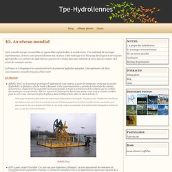 III. Au niveau mondial - Tpe-Hydroliennes