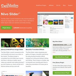 Nivo Slider - The World's Most Popular jQuery & WordPress Image Slider