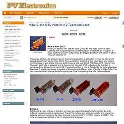 Nixie Clock QTC With IN-8-2 Tubes Included [QTC82TU] - £129.95 : Nixie Tube Clock Kits