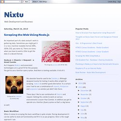 Scraping the Web Using Node.js