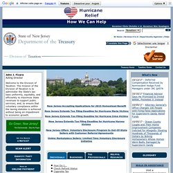 Division of Taxation Home Page