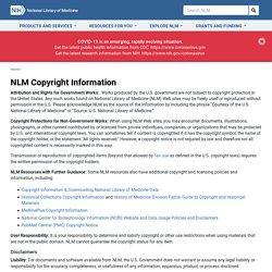NLM Copyright Information